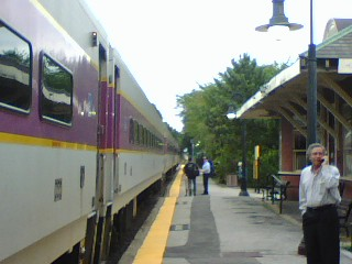 Commuter Rail at Fitchburg station platform