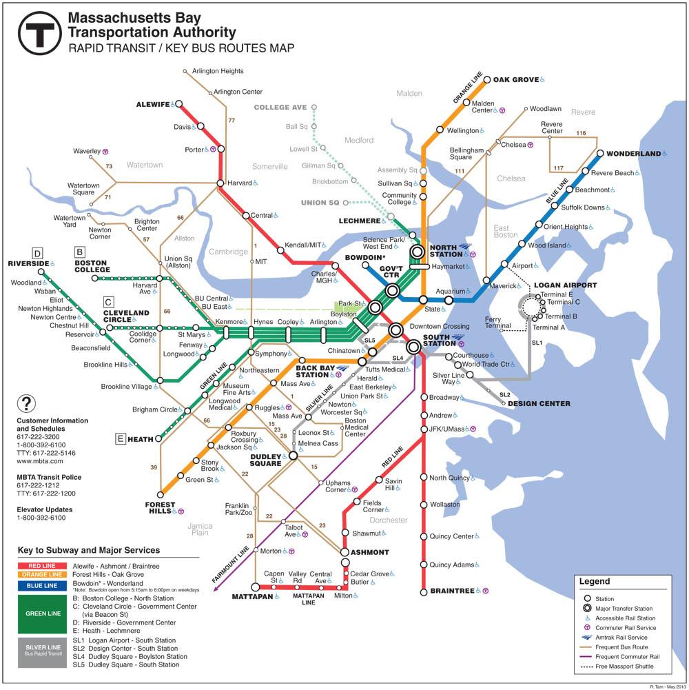 Mass Subway Map