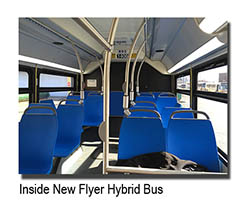 Inside New Flyer Hybrid Bus