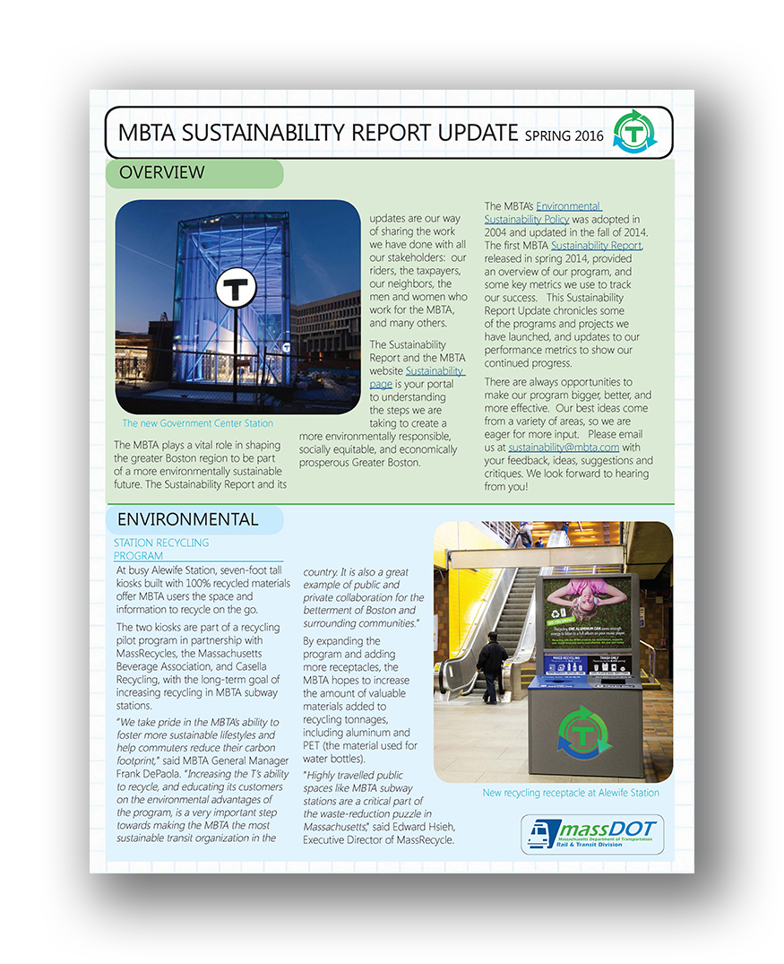 Sustainability Report Update 2016