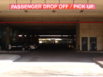 Passenger Drop Off Sign