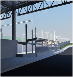 Rendering of new platform access from busway
