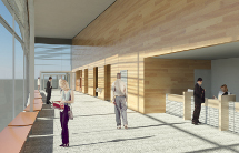 Rendering of inside Hingham Intermodal Facility