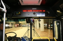 bus interior stop announcement display
