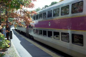 Double-Decker Commuter Rail Train