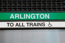Sign at entrance of an MBTA subway station with the station's name displayed.  Click to enlarge.