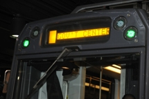 Destination sign on front of Green Line train. Click to enlarge.