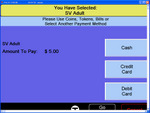 Screen shot of payment screen. Click to enlarge.