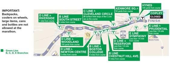 MBTA  Riding the T  Boston Marathon