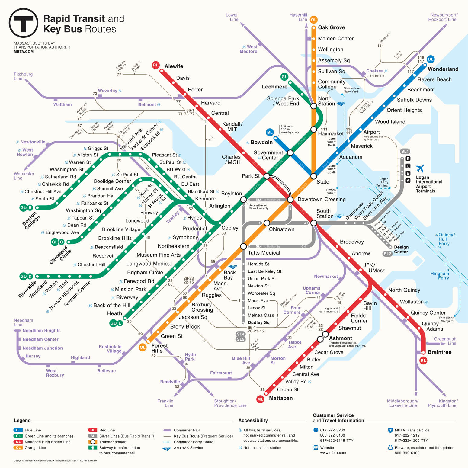 MBTA gets a new map   The Boston Globe