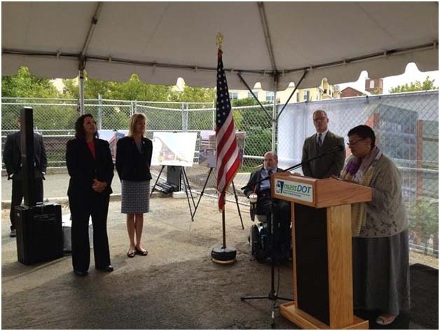 Massachusetts Bay Transportation Authority (MBTA) General Manager Dr. Beverly Scott today joined state and local officials to celebrate the groundbreaking for the new MBTA Salem Commuter Rail Station.