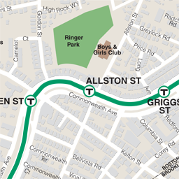 Allston St Neighborhood Map thumbnail