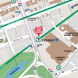 MBTA Gt Schedules Amp Maps Gt Subway Gt Fenway Station