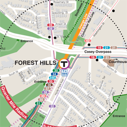 Forest Hills Neighborhood Map thumbnail