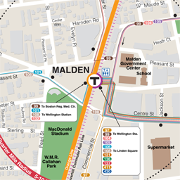 Malden Neighborhood Map thumbnail