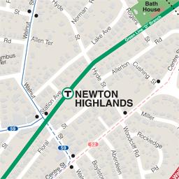 MBTA  Schedules  Maps  Subway  Newton Highlands Station