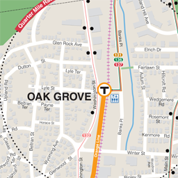 Oak Grove Neighborhood Map thumbnail