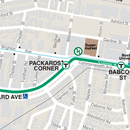 Packards Corner Neighborhood Map thumbnail