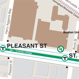 Pleasant St Neighborhood Map thumbnail