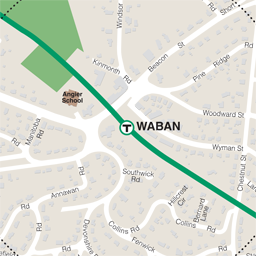 Waban Neighborhood Map thumbnail