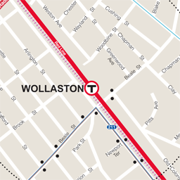 Wollaston Neighborhood Map thumbnail